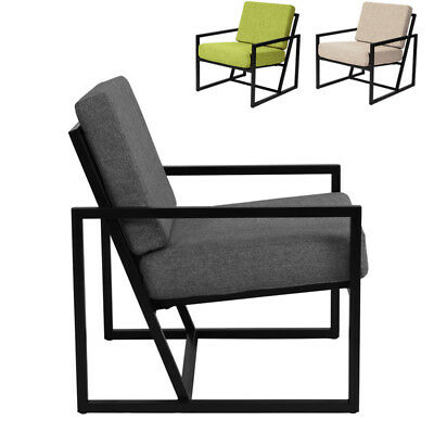 MID CENTURY IRON Frame Accent Armchairs Living Room Modern ...