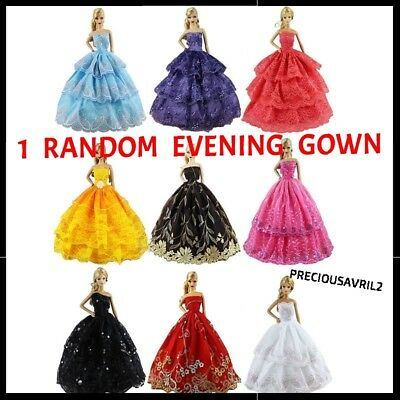 Brand new Barbie doll clothes clothing outfit gown RANDOM evening dress