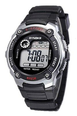SYNOKE Multifunction Unisex Sports Digital Watches Silver D1W8