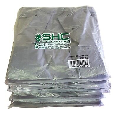 Plastic Singlet Grocery Shopping Checkout Bags LARGE GREY (1000PCS)