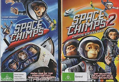 SPACE CHIMPS 1+2: Zartog Strikes Back DVD 2-MOVIES BRAND NEW CHIMP ASTRONAUTS R4
