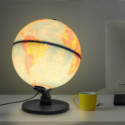 Illuminated World Globe Touch Control Light Up Table Lamp Christmas Xmas Gift UK