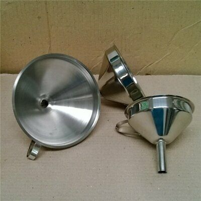 Stainless Steel Funnel Filler For Most Hip Flasks Wine Whisky Pot Wide Mouth  EA
