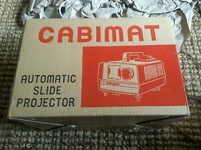 Automatic Slide Projector By Cabimat Holds 36 Slides At A Time In Good W.order