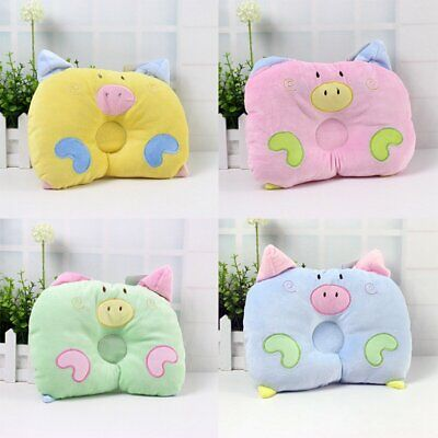 Baby Infant Cot Pillow Preventing Flat Head Neck Syndrome newborn Girl Boy EA