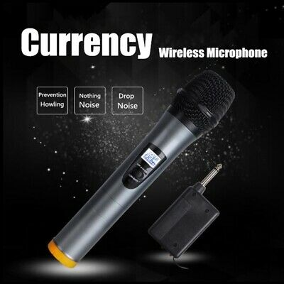 ELEGIANT Bluetooth Wireless Handheld UHF Microphone System Rechargeable+Receiver