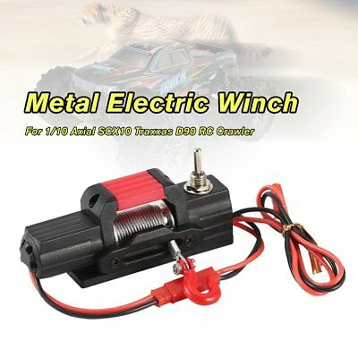 Metal Electric Winch Car Parts for 1/10 Axial 4WD SCX10 Traxxas D90 RC CrawlSLL3