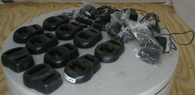 Lot of 10 Motorola HCTN4001A Drop-In Radio Chargers SEE NOTES
