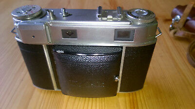 Vintage 1950's Kodak Retina IIIc 35mm camera with case, strap and instructions