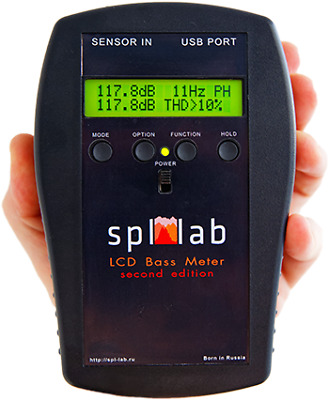 Spl-Lab, LCD Bass Meter (Second Edition) - a device for measuring the sound...