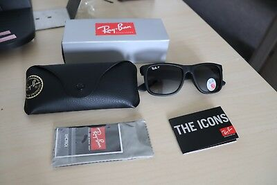 Ray-Ban Sunglasses JUSTIN RB 4165 622/8G Unisex 54mm Shaded Polarised Authentic