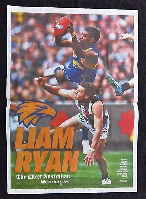 2018 Afl Football West Coast Eagles Double Page Newspaper Grand Final Poster