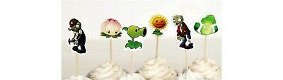 12 Plants vs Zombies Cupcake Picks Toppers