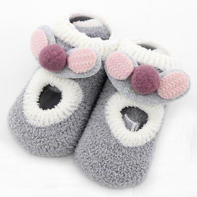 Cute Newborn Baby Girl/Boy Toddler Anti Slip Shoes Slipper Floor Socks Boots FI