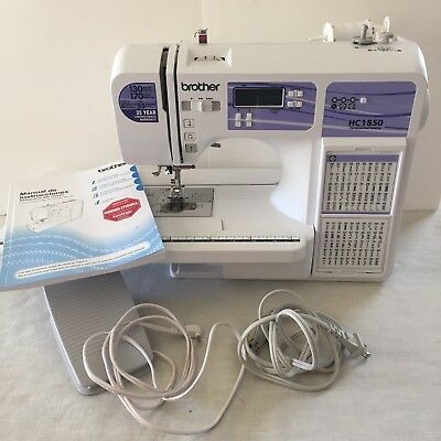 BROTHER HC 40 Computerized Sewing Quilting Machine 40 Built In Beauteous Brother Hc1850 Sewing And Quilting And Embroidery Machine