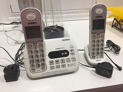 *uniden*sse35+1 Visual & Hearing Impaired Cordless Phone System Hearing Aid Comp