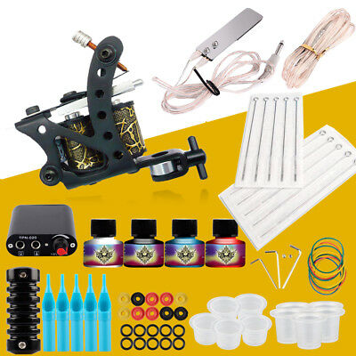 Professional Tattoo Kits Top Artist Complete Set Tattoo Machine Gun Lining Ink