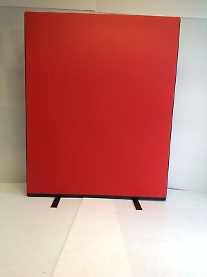 PanelWarehouse Office Screen Divider Partition Woolmix 1200mm x 1500mm Red