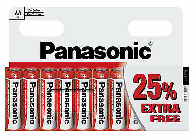 10 X PANASONIC AA Zinc Carbon Batteries Battery 1.5V - DOUBLE A