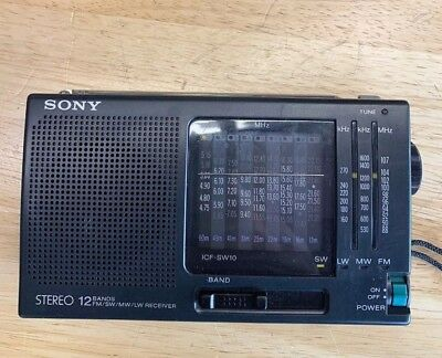 SONY ICF-SW11 Shortwave Radio FM Stereo MW LM SW (1-9) 12-Band Receiver