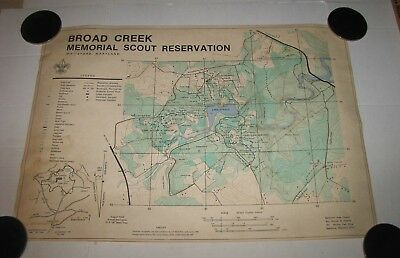 1982 Boy Scout Broad Creek Memorial Scout Reservation Map Bsa