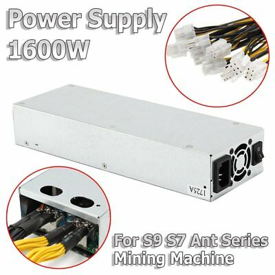 1600W Quiet Mining Machine Power Supply Suitable pour Bitcoin Miner S7 neuf YT