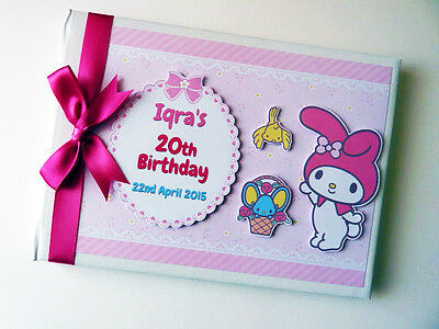 Personalised Bunny /girls /first/1St Birthday Guest Book - Any Design