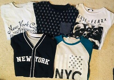 Boys Tops Bundle x5 11-12 Years Long Sleeve & Short Sleeve Tops (3x NEXT)