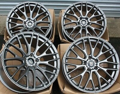 "19"" GREY RIVER R10 ALLOY WHEELS FITS 5x112 AUDI A3 S3 A4 S4 B5 B6 B7 B8 B9 A6"