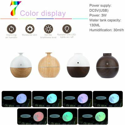 NEW LED 130ML Aroma Essential Oil Diffuser Cool Mist Humidifier Air Purifier M9