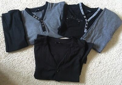 Boys Long Sleeved Tops Bundle Age 6-7 & 7-8 Years x3 Good Condition