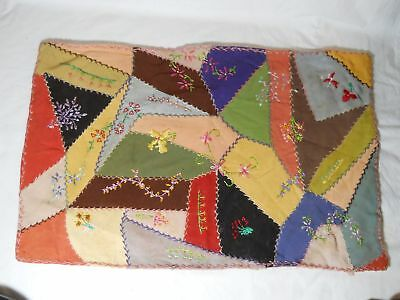 A Nice Antique Hand Stitched Doll Bed Crazy Quilt