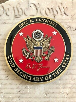 22ND SECRETARY OF the Army Eric K  Fanning Challenge Coin