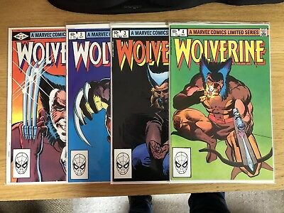 Wolverine #1, 2, 3, 4 Limited Mini Series - Frank Miller High Grade Nm Marvel