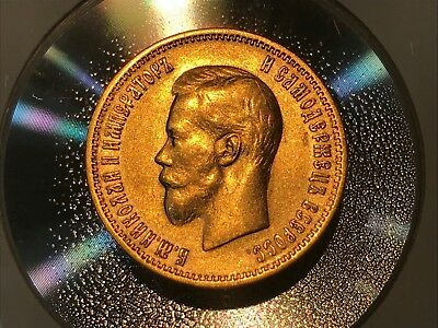 1899(АГ) Original RUSSIAN10ROUBLES GOLDAUTHENTICCOINIMPERIAL RUSSIA EAGLE