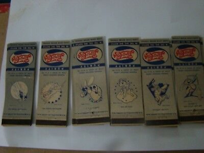disney/pepsi1940ths (6 different) matchcovers