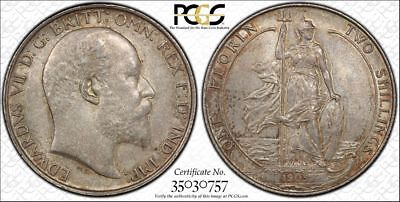 Great Britain, 1903 Edward VII Florin. PCGS MS 62. 995,000 Mintage.