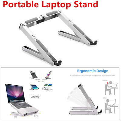 Portable Laptop Stand Adjustable Ventilated Aluminum Tablet Holder Stable Trims
