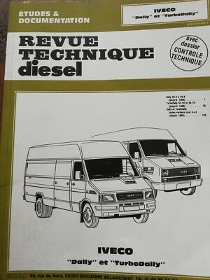 IVECO DAILY TURBODAILY  DIESEL FOURGON Revue technique MECANIQUE RTA CIP 1172