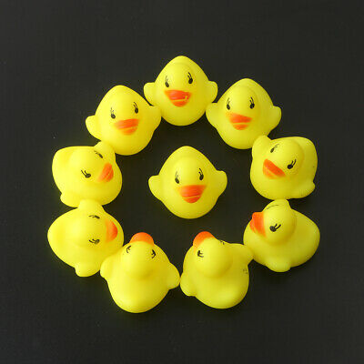 10x Squeezing Call Rubber Duck Ducky Duckie Baby Shower Toys Birthday Favors