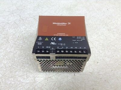 Weidmuller 8708680000 250 W Power Supply Connect Power 24 VDC 10 Amp (TSC)