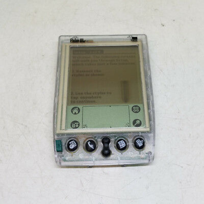 3Com Palm IIIe 3e PDA Palm Pilot Clear Translucent Used Tested Working
