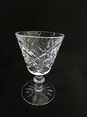 "WATERFORD Adare Cut Pattern Port Wine Glass Sherry 4"" High Signed"