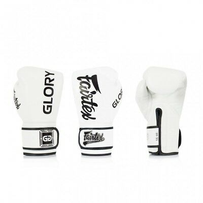 BGVG1 Fairtex X Glory White Sparring Boxing Gloves Muay Thai Sparring Kickboxing