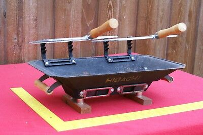 vintage 1980's Taiwan HIBACHI  CAST IRON TABLE TOP GRILL ( 1 of 2)