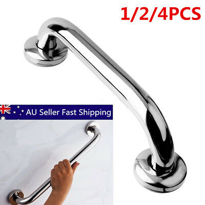 Stainless Steel Bath Shower Support Wall Grab Bar Safety Handle Towels Rail 25cm