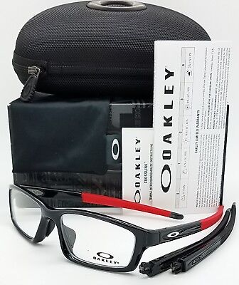 12ba48ac6c7 NEW Oakley Crosslink Pitch RX Frame Polished Black Ink Red OX8041-1756 56mm  NIB