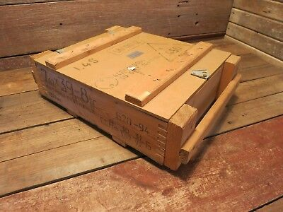Us Army Wooden Ammunition Ammo Crate Wood Box