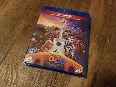 Coco (3D + 2D Blu-ray, 3 Discs, Disney, Region Free) *NEW/SEALED*