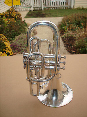Silver DEG Dynasty Mellophone in F with Eb Slide & MP Willson Swiss Made